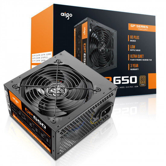 Aigo GP650 Active Power 80PLUS BRONZE Desktop Power Supply