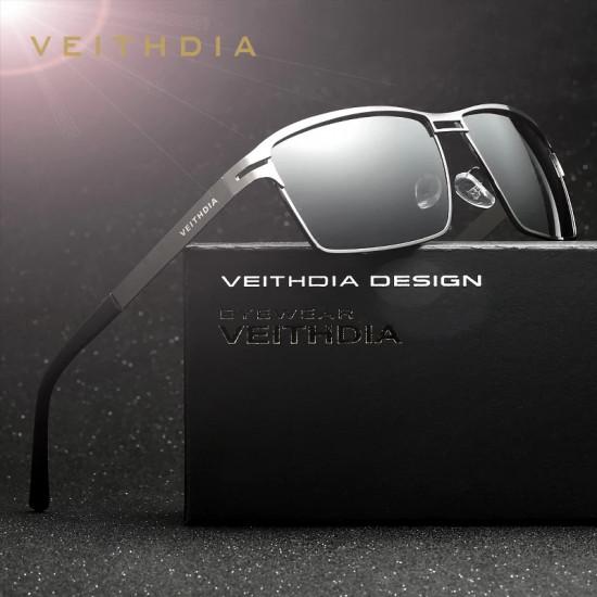VEITHDIA  Stainless Steel Polarized Sunglasses #2711